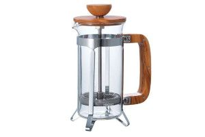 French Press - Olive Wood