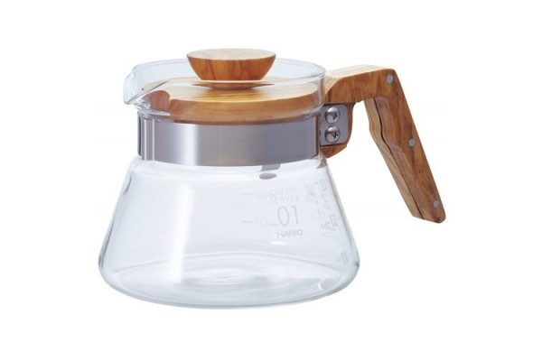 Wood V60 coffee server