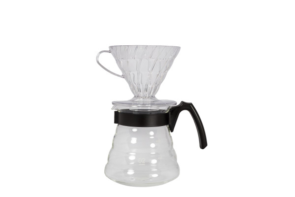 Hario V60 Clear Plastic Coffee Brewing Kit